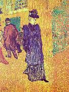 Jane Avril sortant du Moulin Rouge Henri de toulouse-lautrec